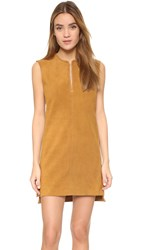 Blk Dnm Suede Dress 20 Tobacco