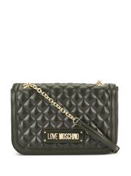 Love Moschino Quilted Shoulder Bag Grey