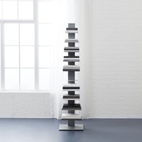 Cb2 Array Silver Bookcase