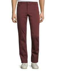 Neiman Marcus Stretch Cotton Five Pocket Pants Wine