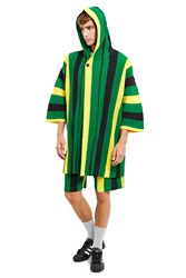 Homme Plissaƒa Issey Miyake Flags Hooded Poncho Black Tri Color