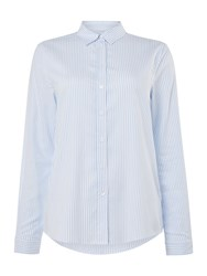 Gant Oxford Long Sleeve Striped Shirt Light Blue