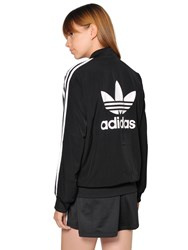 Adidas 3 Stripes Techno Crepe Bomber Jacket