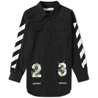 Off White Diagonals Fern Shirt Black