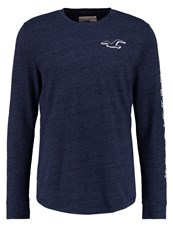Hollister Co. Chain Long Sleeved Top Navy Dark Blue