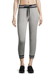 Beyond Yoga Varsity Cropped Sweatpants Light Heather