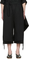 Craig Green Black Cotton Long Layered Shorts