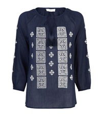 Joie Milian Tunic Embroidered Top