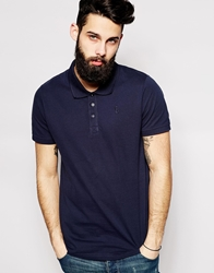 Only And Sons Pique Polo Shirt Navy