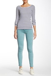 Fidelity Mila Mid Rise Ankle Slim Pant Blue