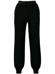 Missoni Knitted Track Style Trousers Black