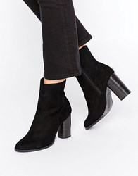 New Look Suedette High Ankle Boot Black