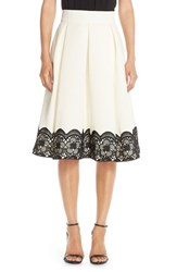 Women's Eliza J Lace And Faille Midi Skirt