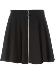 Jeremy Scott Front Zip Mini Skirt Black