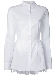 Antonio Berardi Ruffled Back Shirt White