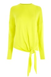 Warehouse Tie Front Jumper Yellow