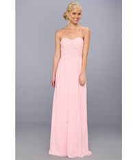 Donna Morgan Strapless Chiffon Gown Stephanie Blush Women's Dress Pink