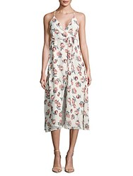 Lucca Couture Floral Wrap Dress White