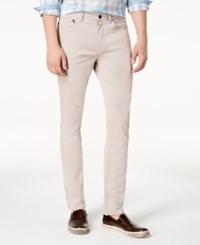 Kenneth Cole Reaction Brooklyn Slim Fit Stretch Twill Pants Rose Smoke