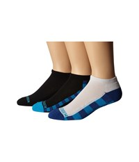 Steve Madden 3 Pack Athletic Low Cut 1 2 Cushion And Arch Support Black Blue Men's Low Cut Socks Shoes