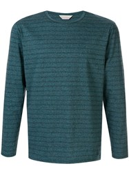 Gieves And Hawkes Striped Cotton T Shirt Green