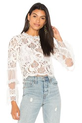 Lioness Chancellor Lace Top White