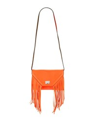 Steve Madden Fringed Faux Leather Shoulder Bag Coral