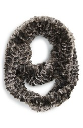 Women's Brazen Textured Faux Fur Infinity Scarf Black