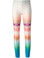 Missoni Patterned Knit Slim Trousers Multicolour