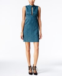 Bcbgeneration Cutout Faux Suede A Line Dress Sea Blue