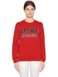 Love Moschino Cotton Jersey Sweatshirt
