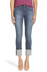 Jag Jeans 'Evan' Wide Cuff Stretch Crop Jeans Melrose