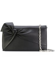 Casadei Bow Shoulder Bag Women Calf Leather Satin One Size Black