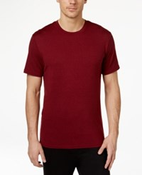 32 Degrees By Weatherproof Crew Neck T Shirt Crimson Heather