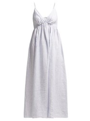 Loup Charmant Adelaide Linen Dress Blue