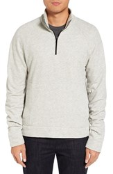James Perse Men's Half Zip Sweatshirt Charcoal
