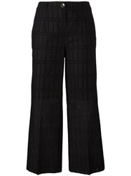 Blumarine Cropped Trousers Black