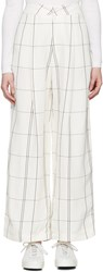 Studio Nicholson Ivory Check Balloon Trousers