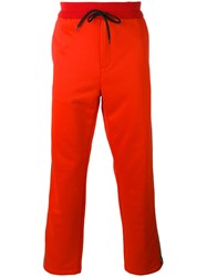 Golden Goose Deluxe Brand Side Stripe Track Pants Red