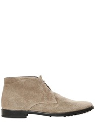 Tod's Suede Chukka Boots Taupe