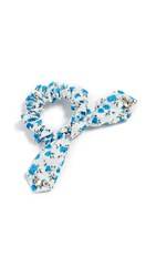Dannijo Nina Scrunchie Blue White