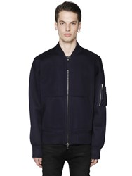 Diesel Black Gold Viscose Neoprene Bomber Sweatshirt