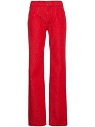 Calvin Klein 205W39nyc High Rise Straight Leg Jeans Red