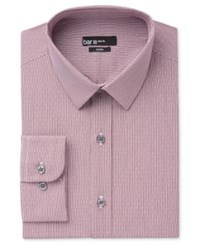 Bar Iii Men's Slim Fit Wine Dot Check Dress Shirt Only At Macy's