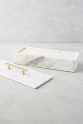 Anthropologie Nouvelle Marble Candle Box White