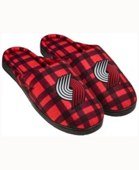 Forever Collectibles Portland Trail Blazers Flannel Slide Slippers Black