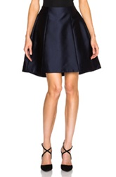 Adam By Adam Lippes Adam Lippes Fluted Mini Skirt In Blue