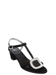 Roger Vivier 45Mm Chips Swarovski Satin Sandals