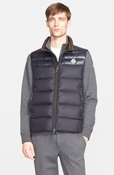 Moncler 'Dupres' Two Tone Quilted Down Vest Navy
