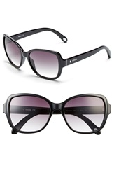 Fossil 55Mm Oversize Sunglasses Black